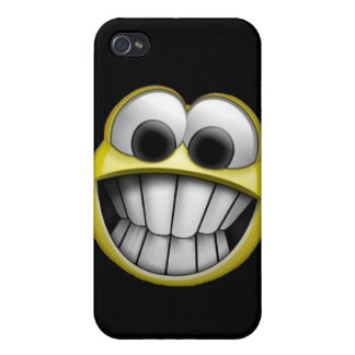 Grinning Happy Smiley Face iPhone 4 Cover