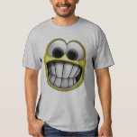 Grinning Happy Smiley Face Tee Shirts