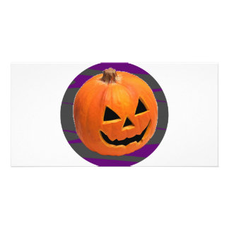 Grinning Pumpkin Photo Cards
