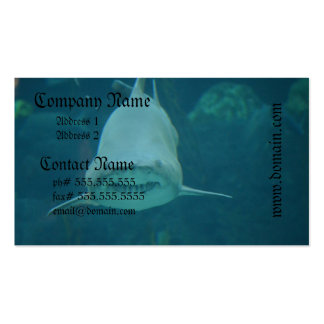Grinning Shark Double-Sided Standard Business Cards (Pack Of 100)