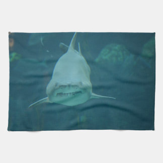 Grinning Shark Tea Towel