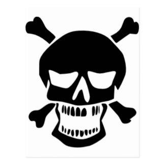 Grinning Skull & Bones Postcards
