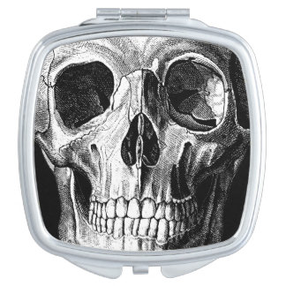 Grinning Skull Compact Mirror Square