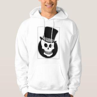 Grinning Skull in Hat Hoodie