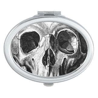 Grinning Skull Oval Mirror Vanity Mirrors