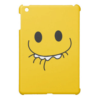 Grinning smiley face cover for the iPad mini