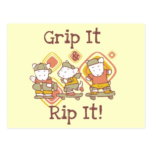 Grip It and Rip It Skateboarding Postcards