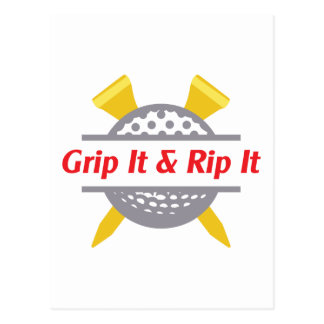 Grip It & Rip It Postcard