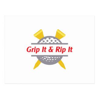Grip It & Rip It Postcard