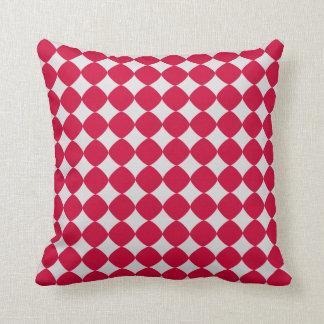 gris et rouge patterns pillow