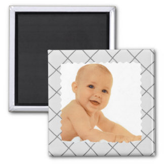 gris pattern square magnet