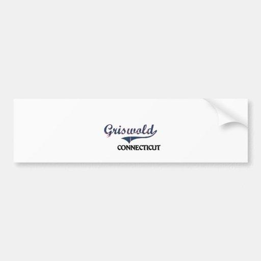 Griswold Connecticut City Classic Bumper Stickers