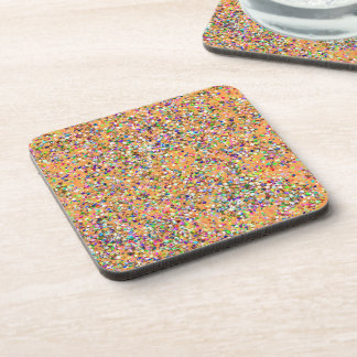Grit Glitter Fashion Multicolor Painting #2 Coaster