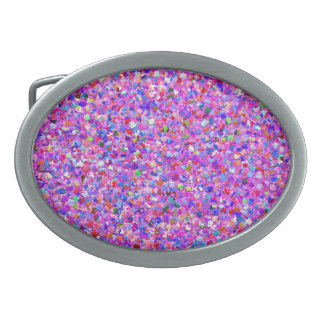 Grit Glitter Fashion Multicolor Painting #5 Oval Belt Buckles