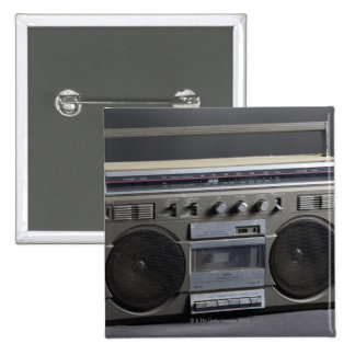 Gritty Boom Box 15 Cm Square Badge