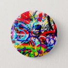 Gritty Crazy Graffiti 6 Cm Round Badge