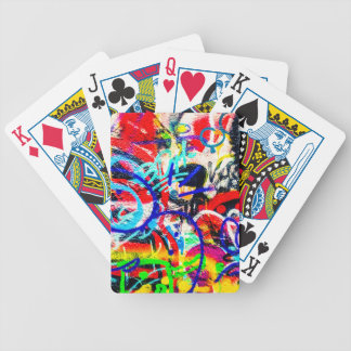 Gritty Crazy Graffiti Bicycle Playing Cards