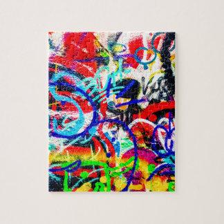 Gritty Crazy Graffiti Jigsaw Puzzle