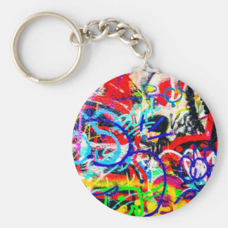 Gritty Crazy Graffiti Key Ring