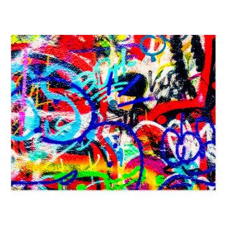Gritty Crazy Graffiti Postcard