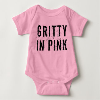 Gritty In Pink - Baby Jersey Bodysuit (Pink)