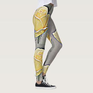 Gritty Yellow Rose Women's Leggings