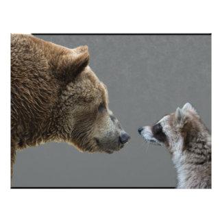 Grizzle Bear Meets Raccoon Custom Flyer