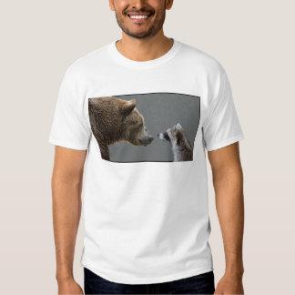 Grizzle Bear Meets Raccoon T Shirts