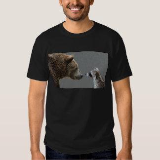 Grizzle Bear Meets Raccoon Tees