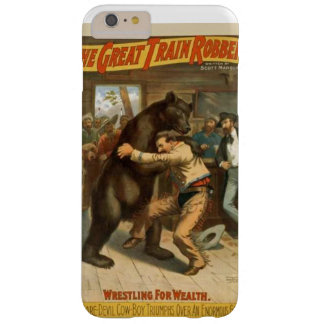 Grizzley bear fight barely there iPhone 6 plus case