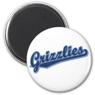 Grizzlies in 2 Blues 6 Cm Round Magnet