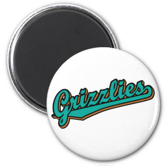 Grizzlies in Green and Brown Magnets