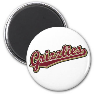 Grizzlies in Maroon and Gold Magnets