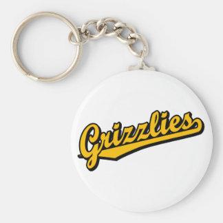 Grizzlies in Orange Keychain