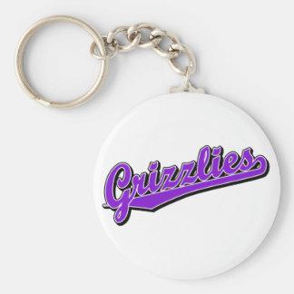 Grizzlies in Purple Keychain