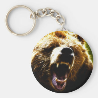 Grizzly Attack Keychain