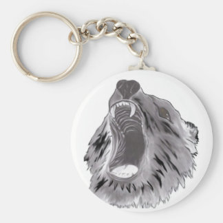 Grizzly Basic Round Button Key Ring