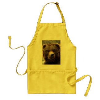 Grizzly Bear-017, Grizzly Bear Standard Apron
