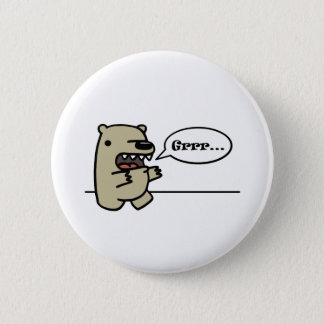 Grizzly Bear 6 Cm Round Badge