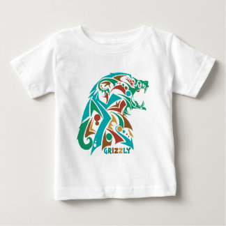 Grizzly Bear Abstract Design T Shirt