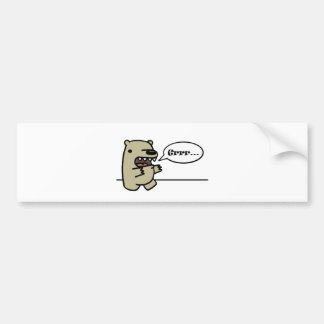 Grizzly Bear Bumper Sticker