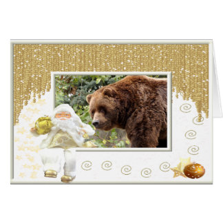 Grizzly Bear Christmas Greeting Card