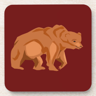 Grizzly Bear Cork Coaster