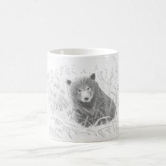 Grizzly Bear Cub Drawing Basic White Mug