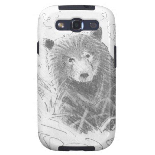 Grizzly Bear Cub Drawing Samsung Galaxy SIII Cover