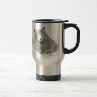Grizzly Bear Cub Drawing Stainless Steel Travel Mug