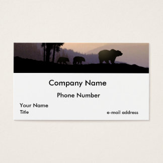 Grizzly Bear Family Business Card