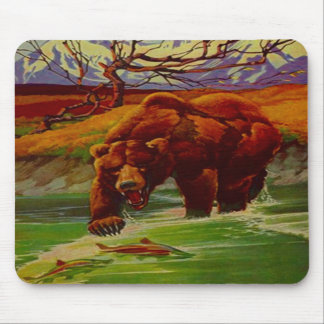 Grizzly Bear Fishing Wildlife Bears Gifts Gift Mouse Pad