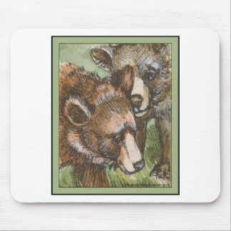 Grizzly Bear Friends Mousepad