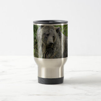 Grizzly Bear in Yellowstone National Park Stainless Steel Travel Mug